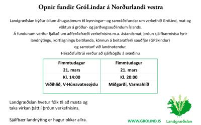 GróLindar fundir á Norðurlandi Vestra